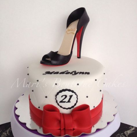 21+ Awesome Image of High Heel Birthday Cake . High Heel Birthday Cake 21st Birthday Cake With High Heel Shoe Topper Maris Boutique  #HappyBirthdayCake