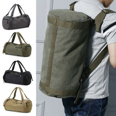 Large Men/'s Canvas Backpack Shoulder Bags Sports Travel Duffle Bags Hand Luggage