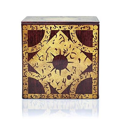 Hellraiser 4-Inch Puzzle Stash Box Storage Tin - Licensed Collectible Horror Movie Merchandise - Novelty Scary Film Home and Office Decor - Multi-colored