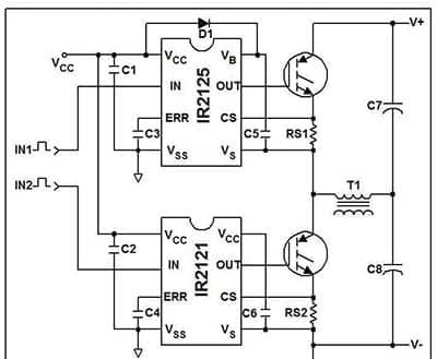 Gate Drive Circuit Controls A Pair Of Igbts In A Bipolar H Bridge Bipolar Control Circuit