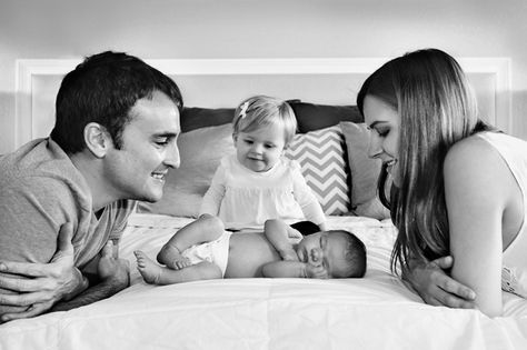 So beautiful! Family of four newborn pictures