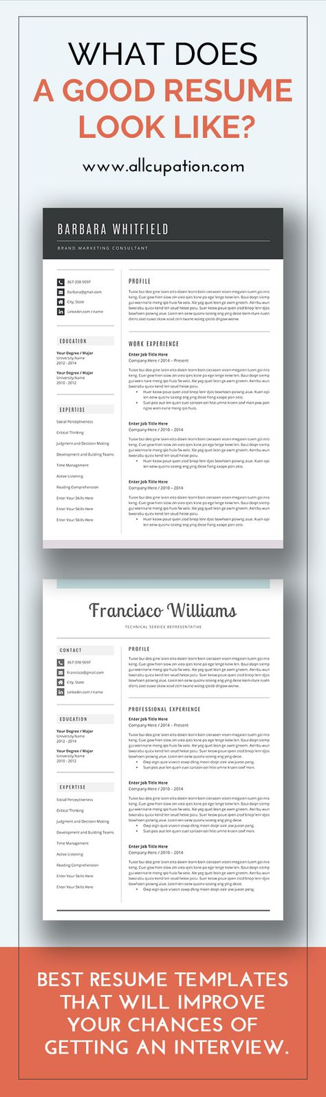 Best resume templates for your job search Visit wwwallcupation - what does a good resume look like