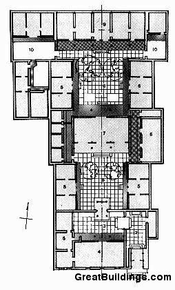 Great Buildings Drawing Chinese Courtyard House Home Design Floor Plans Chinese Courtyard Craftsman Floor Plans