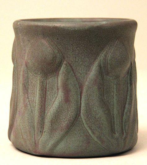 Van Briggle Pottery Tile Single Leaf Painted 6 x 6