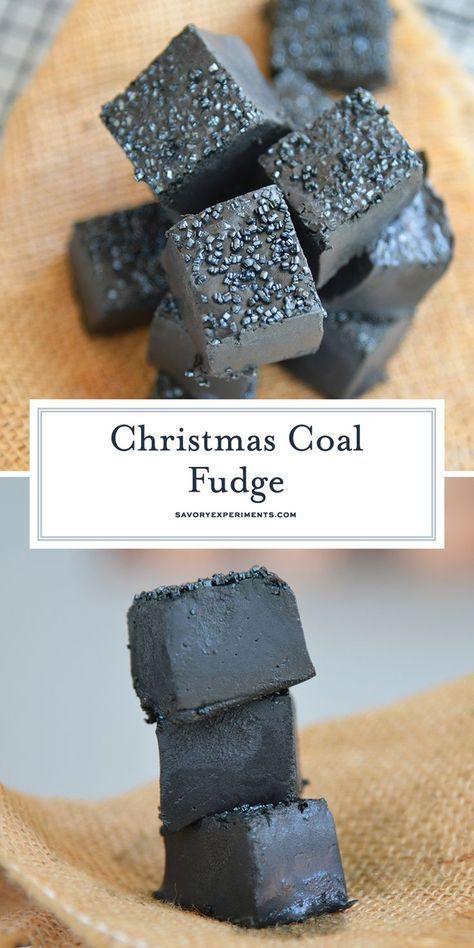 Christmas Coal Candy Coal For Christmas Fudge Recipe In 2020 Christmas Fudge Recipe Christmas Candy Recipes Fudge Recipes