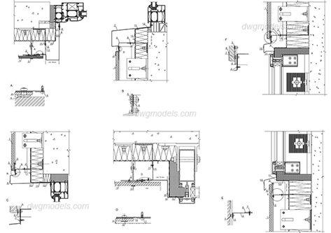 Windows details - CAD Blocks, free dwg file.
