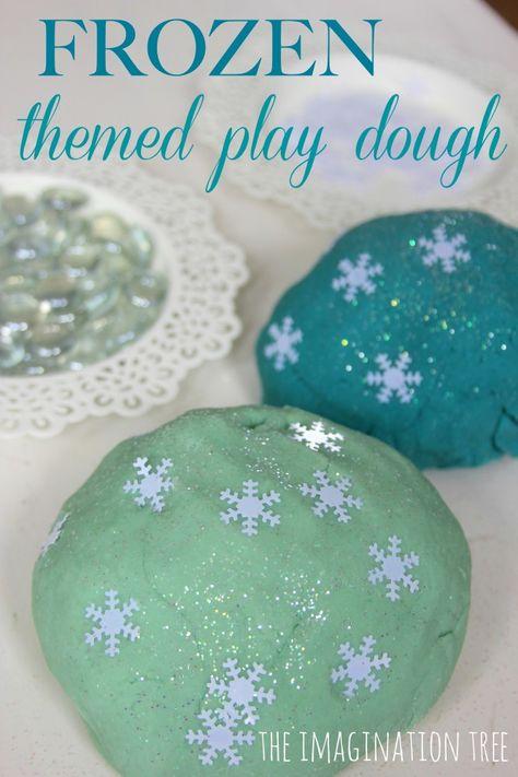 Frozen Themed Play Dough Activity - The Imagination Tree