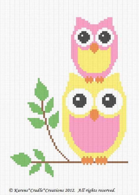 Crochet Patterns Owls Mommy Baby Afghan Pattern Easy Deken
