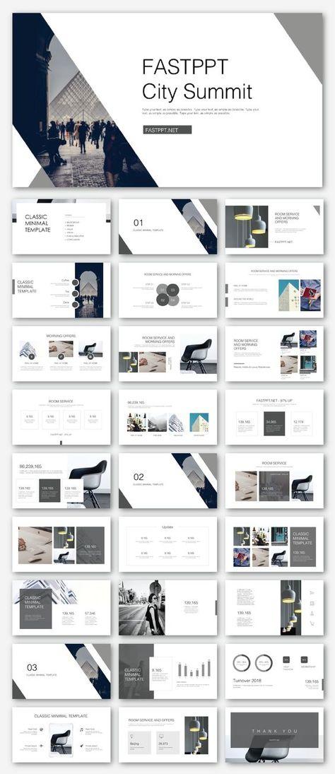 Black & White Business Presentation Template