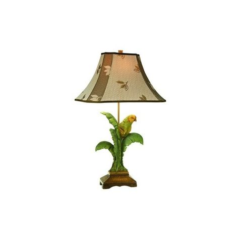 Coastal Kathy Ireland Tropical Parrot Table Lamp Liked On Polyvore Featuring Home Lighting Table Lamps Multi Col Lamp Table Lamp Tropical Parrot