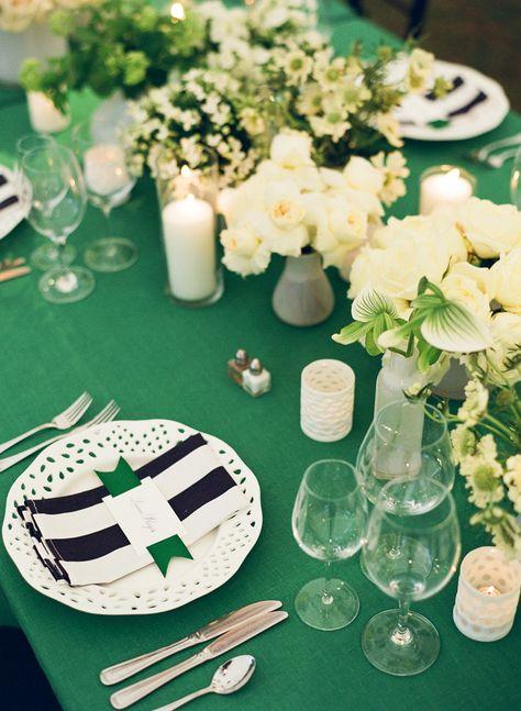 La Tavola Fine Linen Rental: Tuscany Emerald | Vendors: Photographer: Gayle Brooker, Planner: Calder Clark, Caterer: Cru Catering, Venue: Fenwick Hall Plantation, Florist + Fabric Production Team: Blossom Events