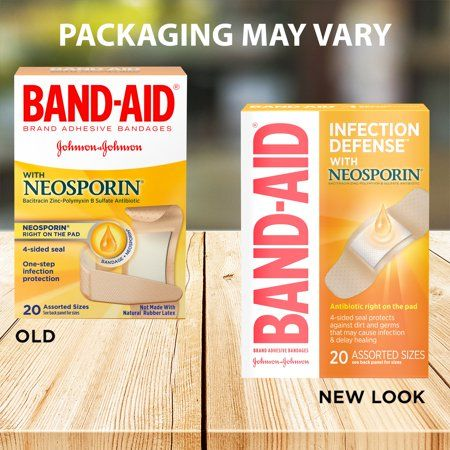 Band Aid Brand Bandages With Neosporin Antibiotic Assorted Sizes 20 Ct Walmart Com Band Aid Neosporin Itch Relief Cream