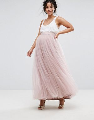 Hedendaags Little Mistress Maternity Maxi Tulle Prom Skirt JF-65