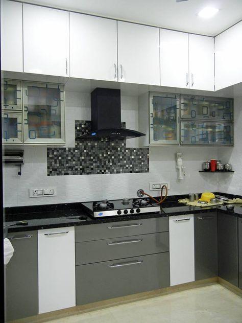 3bhk Apartment Modern Kitchen By Interiors By Suniti Modern Homify Modular Kitchen Cabinets Kitchen Cupboard Designs Kitchen Modular