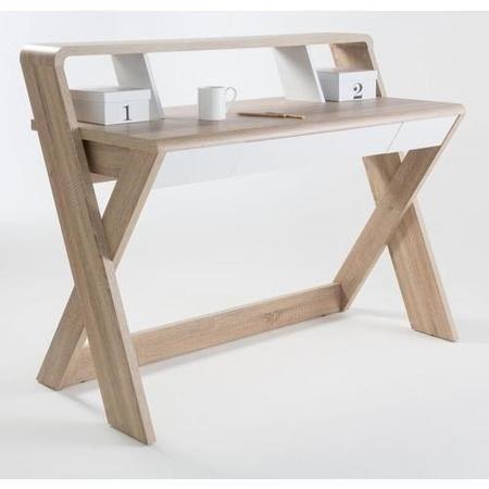 Buy Aspen Light Oak And White Desk From Furniture123 The Uk S Leading Online Home Office Furniture Wooden Computer Desks Home Office Computer Desk