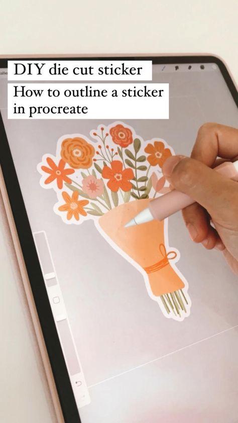 Procreate brushes tutorial tips hacks digital art tiktok how to digital art ipad art sticker