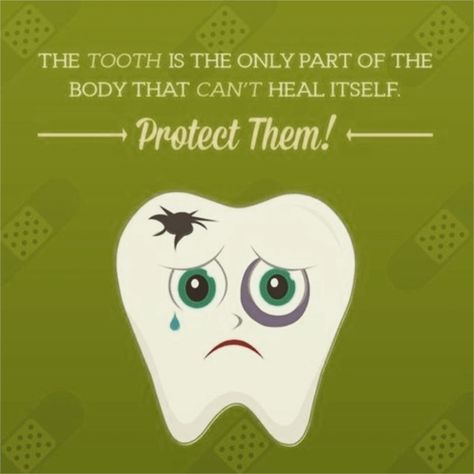 the tooth is the only part of the body that can t heal itself