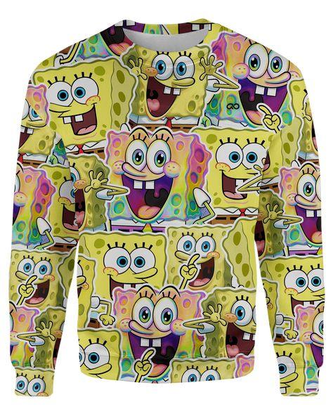 Spongebob Unisex Sweatshirt - 5XL / Yellow