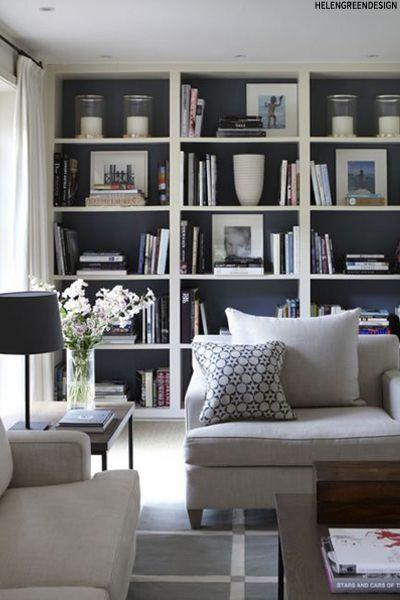 dark bookshelves interiors trend | home interior ideas | pinterest