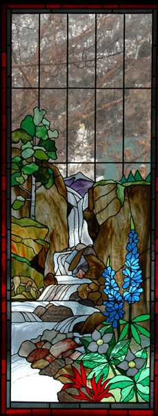 Waterfall - Stained Glass Windows - St John's (1/28/2014) Art: Stained Glass (CTS)