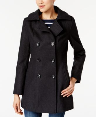 22e4d2e27 Nautica Hooded Double-Breasted Peacoat - Black XXL | Products | Coat ...