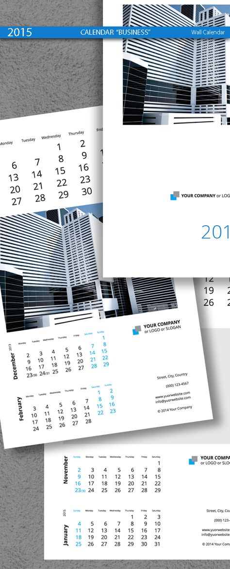 Poster Business Calendar Template 2015 | Calendars | Pinterest