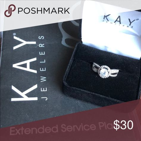 Kay White Sapphire Ring Beautiful Ring Worn Only Twice Includes Extended Service Plan Kay Jewelers Jewelry White Sapphire Ring White Sapphire Sapphire Ring
