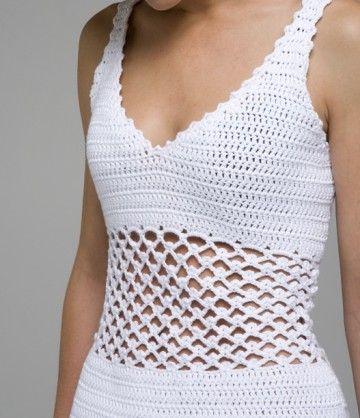 """Crochet : Patrons & modèles gratuits 61 """" Tops au crochet """""""
