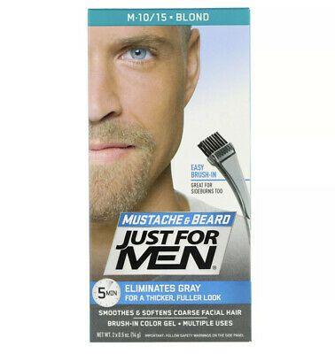 3 Pack Just For Men Mustache Beard Mustache Beard Color Blond M 10 15 Ebay Beard No Mustache Beard Colour Hair And Beard Styles
