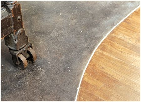 Possible Transition Between Hardwood Diningroom Or Livingroom To Concrete Kitchen Floor Concept Pinterest