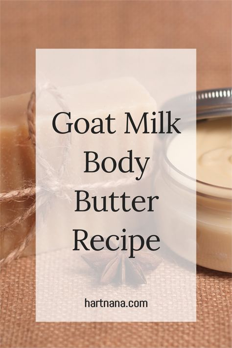 Whipped body butter recipe that leaves your skin feeling soft and moist. This easy DIY body butter recipe will surprise you how simple it is to create. #hartnana #whippedbodybutter #bodybutterrecipe