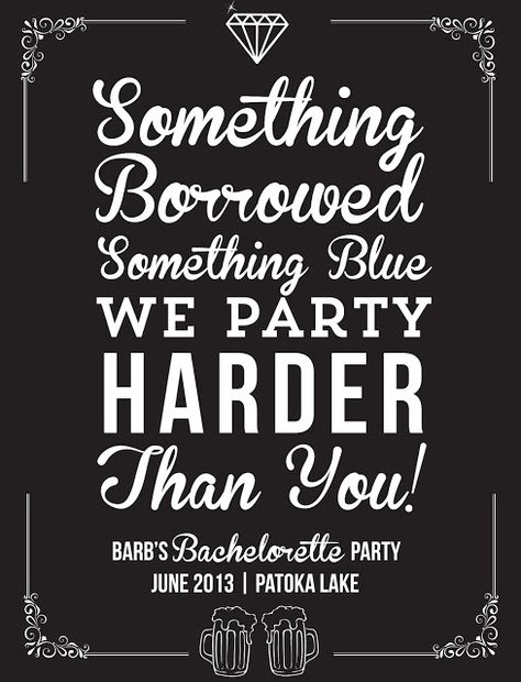 The Turquoise Penguin: Never Too Old // Bachelorette Party T-shirt Design