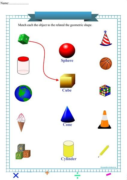 Geometric Shapes Shapes Worksheets Free Math Worksheets Math