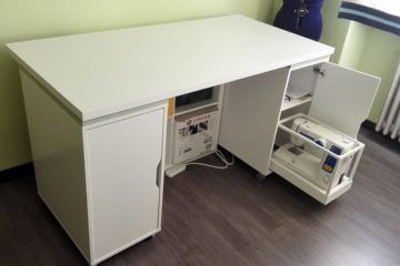 Large Corner Desk Upsized From Ikea Linnmon Tables Ikea Hackers Sewing Room Furniture Sewing Machine Tables Sewing Table