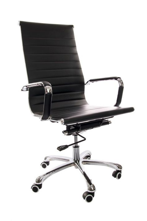 Luxe Leren Bureaustoel.Bureaustoel Madrid Zwart In 2020 Eetkamerstoelen Ikea Stoel