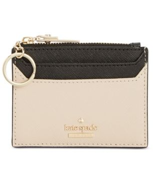 Kate Spade New York Lalena Saffiano Leather Card Holder Brown Kate Spade Wallet Small Saffiano Leather Kate Spade