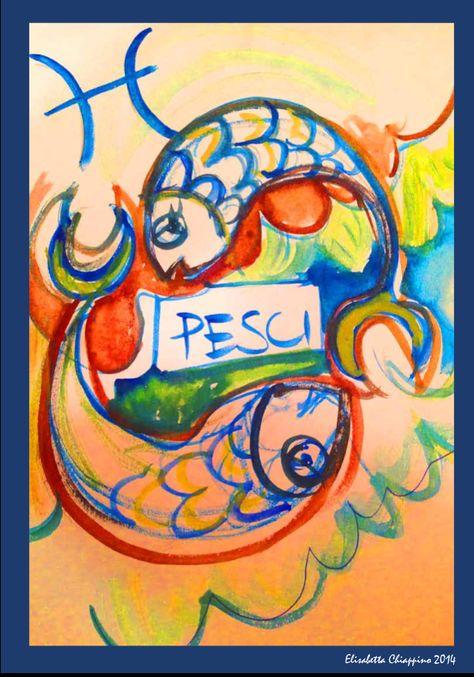 Pesci by Elisabetta Chiappino illustrazioni ° Il Segno zodiacale dei PESCI è il dodicesimo ed ultimo segno dello zodiaco  20 Febbraio - 20 Marzo  Zodiac Art illustration by Elisabetta Chiappino all rights reserved - 2015 © oroscopo - zodiaco - segni zodiacali - Ariete  - Toro - Gemelli  - Cancro - Leone - Vergine - Settembre - Bilancia  - Scorpione - Sagittario - Capricorno - Acquario - Pesci