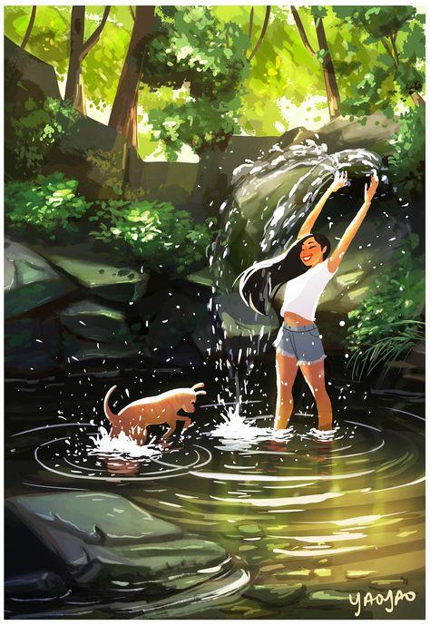 Adorables ilustraciones muestran lo grandiosa que es la vida con un perro