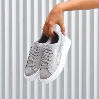 zapatillas puma suede gris