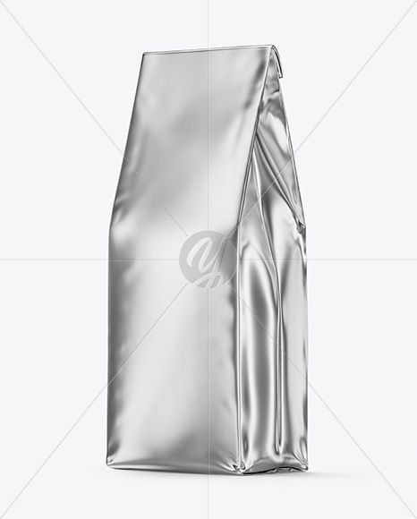 Download Glossy Metallic Coffee Bag Mockup In Bag Sack Mockups On Yellow Images Object Mockups Bag Mockup Design Mockup Free Mockup Free Psd