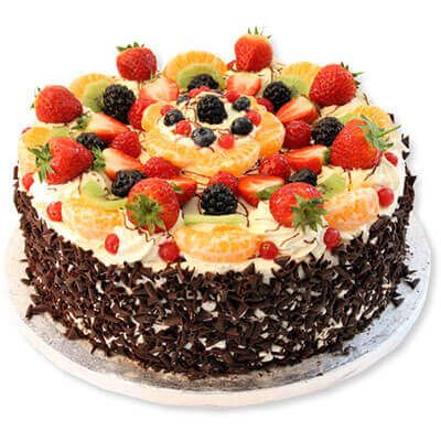 Excellent Black Forest Fruit Top Cake With Images Fruit Topped Cake Personalised Birthday Cards Veneteletsinfo