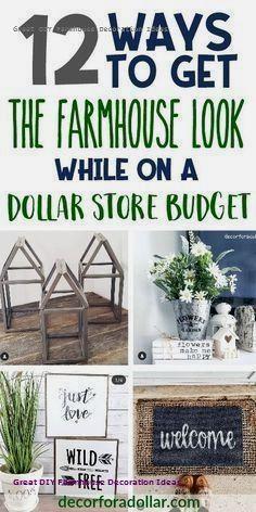 Incredible Diy Farmhouse Theme Decoration Dollar Tree Diy Crafts Dollar Tree Decor Farmhouse Diy