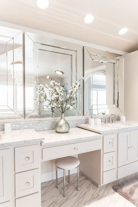 Best Bathroom Vanity With Makeup Area Paint Colors 33 Ideas In 2020 Bathroom Inspiration Decor Bathroom Vanity Lighting Trendy Bathroom