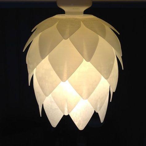 Pine Cone Lampshade 3d Print Model