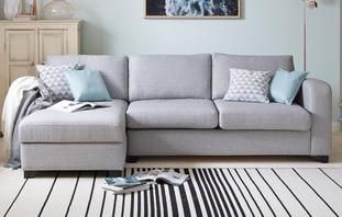 Lydia Left Hand Facing Chaise End 3 Seater Deluxe Sofa Bed Lydia Dfs Sofa Bed With Chaise Fabric Sofa Bed Grey Corner Sofa Bed