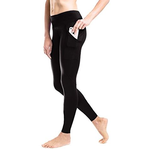 4e00c3cb05e3c Yogipace (S-2XL) Women's Side Pockets Running Tights Compression Pants  Workout Leggings Cycling Tights without Chamois >>> Check this awesome  product by ...