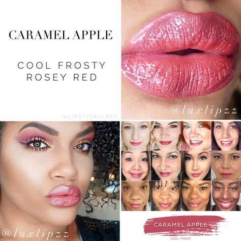 Caramel Apple LipSense on darker skin tone