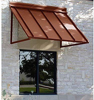 Amazon Com Awntech 5 Feet Houstonian Metal Standing Seam Awning 24 By 36 Inch Copper Patio Awnings Garden Ou Door Awnings Window Awnings Metal Awning