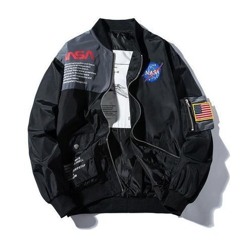 NASA Bomber Lightweight Jacket - Black / L