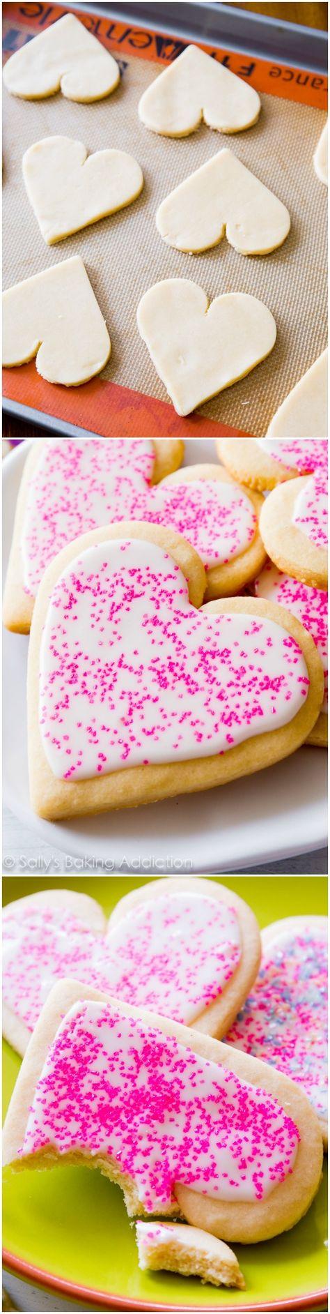 Valentines sugar cookies #valentines #baking #heart